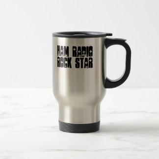 Ham Radio Rock Star 15 Oz Stainless Steel Travel Mug