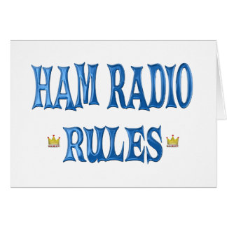 Ham Radio Rules Card