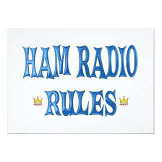 Ham Radio Rules Personalized Announcements