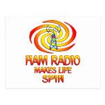 Ham Radio Spins Postcard