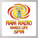 Ham Radio Spins Posters