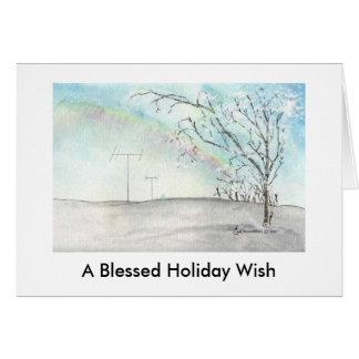 Ham Radio Winter Rainbow Christmas Card
