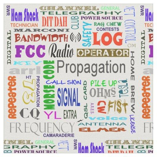 Ham Radio Word Collage Fabric Zazzle Com