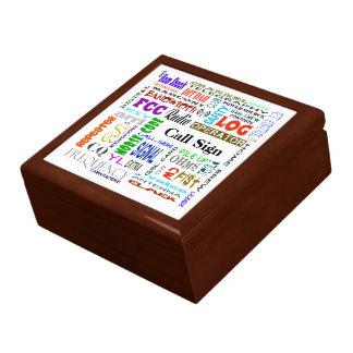 Ham Radio Word Collage Gift Box  Customize It!