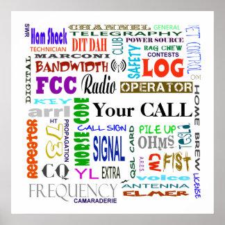 Ham Radio Word Collage  Poster  Customize It!
