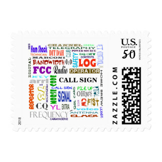 Ham Radio Word Collage  Stamps  Customize It!