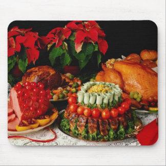 Ham, roast and turkey flowers mouse pads