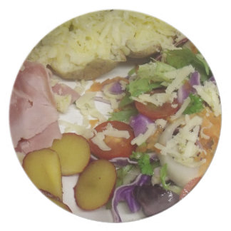 Ham Salad And Dressing Party Plates