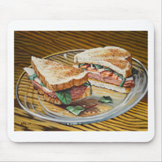 Ham, Salami and Cheese Sandwich Mouse Pad
