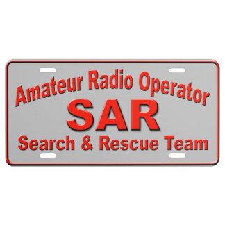 Ham Search & Rescue License Plate