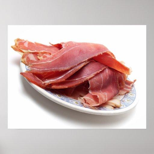 Ham slices poster