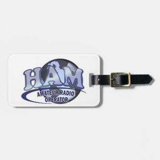 HAM WORLD LOGO Amateur Radio Bag Tag
