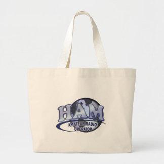 HAM WORLD LOGO Amateur Radio Large Tote Bag