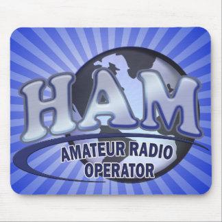 HAM WORLD LOGO Amateur Radio Mouse Pad