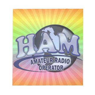 HAM WORLD LOGO Amateur Radio Notepad