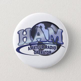 HAM WORLD LOGO Amateur Radio Pinback Button