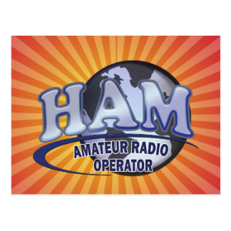 HAM WORLD LOGO Amateur Radio Postcard