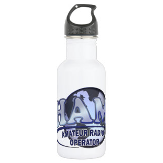 HAM WORLD LOGO Amateur Radio Stainless Steel Water Bottle