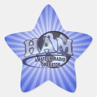 HAM WORLD LOGO Amateur Radio Star Sticker