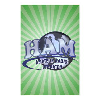 HAM WORLD LOGO Amateur Radio Stationery