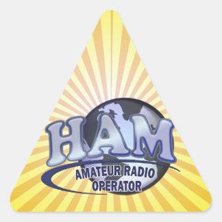 HAM WORLD LOGO Amateur Radio Triangle Sticker