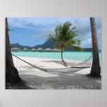Hamaca en el poster de Bora Bora