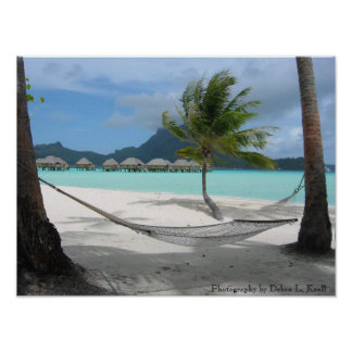 Hamaca en el poster de Bora Bora Póster