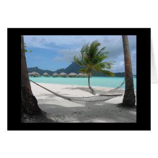 Hamaca en la tarjeta de Bora Bora