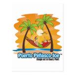 Hamaca mexicana de la playa postal