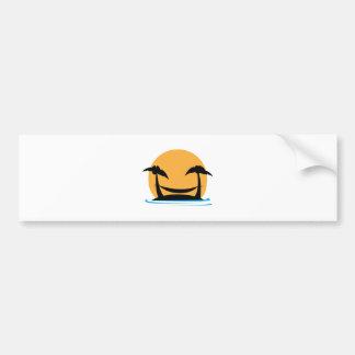Hamaca tropical etiqueta de parachoque