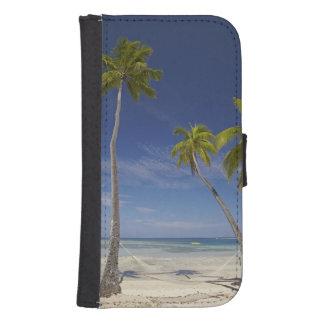 Hamaca y palmeras, centro turístico isleño de la fundas tipo cartera para galaxy s4