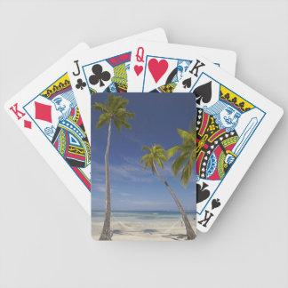 Hamaca y palmeras, centro turístico isleño de la p barajas de cartas