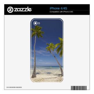 Hamaca y palmeras, centro turístico isleño de la p calcomanías para iPhone 4S
