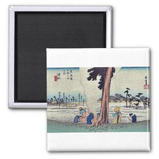 Hamamatsu por Ando, Hiroshige Ukiyoe Imán Cuadrado