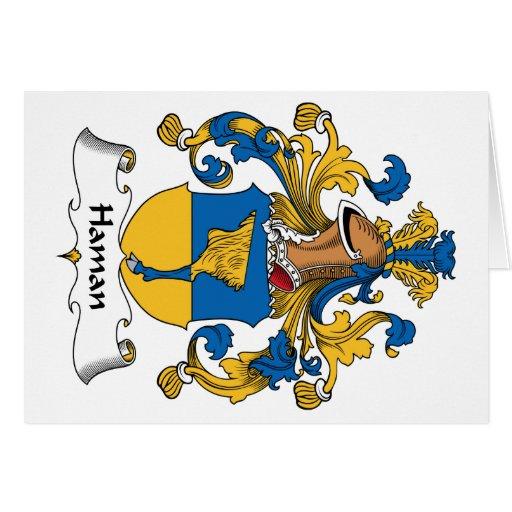 Haman Family Crest Greeting Card