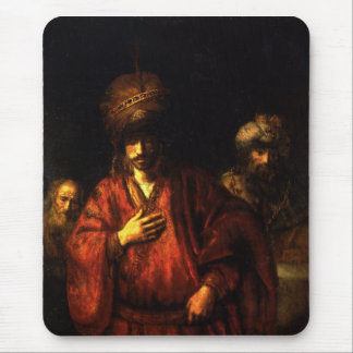 Haman in disgrace by Rembrandt Mousepad