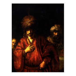 Haman in disgrace by Rembrandt Postcard