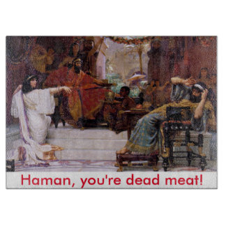 Haman, you're dead meat! cutting board