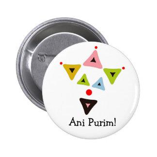 Hamantaschen Clown Ani Purim Button