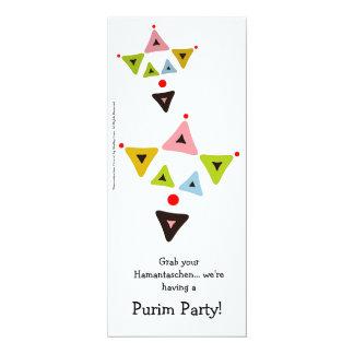 Hamantaschen Clowns Purim Party Invitation 10 Cm X 24 Cm Invitation Card