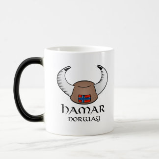 Hamar Norway Viking Hat Magic Mug