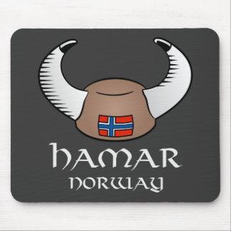 Hamar Norway Viking Hat Mouse Pad