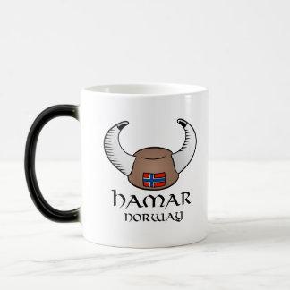 Hamar Norway Viking Hat Coffee Mugs