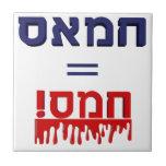¡Hamás significa violencia! Azulejo