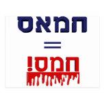 ¡Hamás significa violencia! Postal