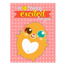 Hambiscuit - So Freaking Excited - Custom Postcard