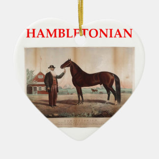hambletonian adorno navideño de cerámica en forma de corazón