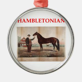 hambletonian adorno navideño redondo de metal
