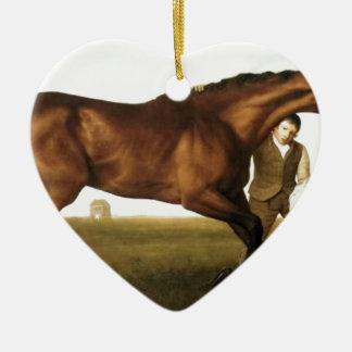 Hambletonian de George Stubbs Adorno Navideño De Cerámica En Forma De Corazón