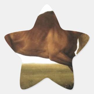 Hambletonian de George Stubbs Pegatina En Forma De Estrella